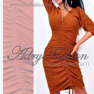 Rensix csau barna elöl húzott női ruha