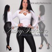 RENSIX Fehér színű pántos csini női felső