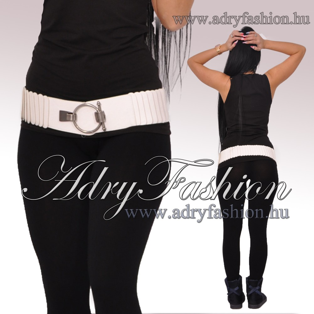 51d6bd4767da Fehér színű gumis csini női öv - AdryFashion női ruha webáruház ...