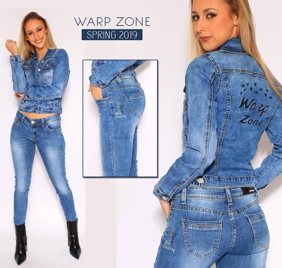 WARP ZONE farmerdzseki hátán csillag dísszel - AdryFashion női ruha ... d0aba4d5ed
