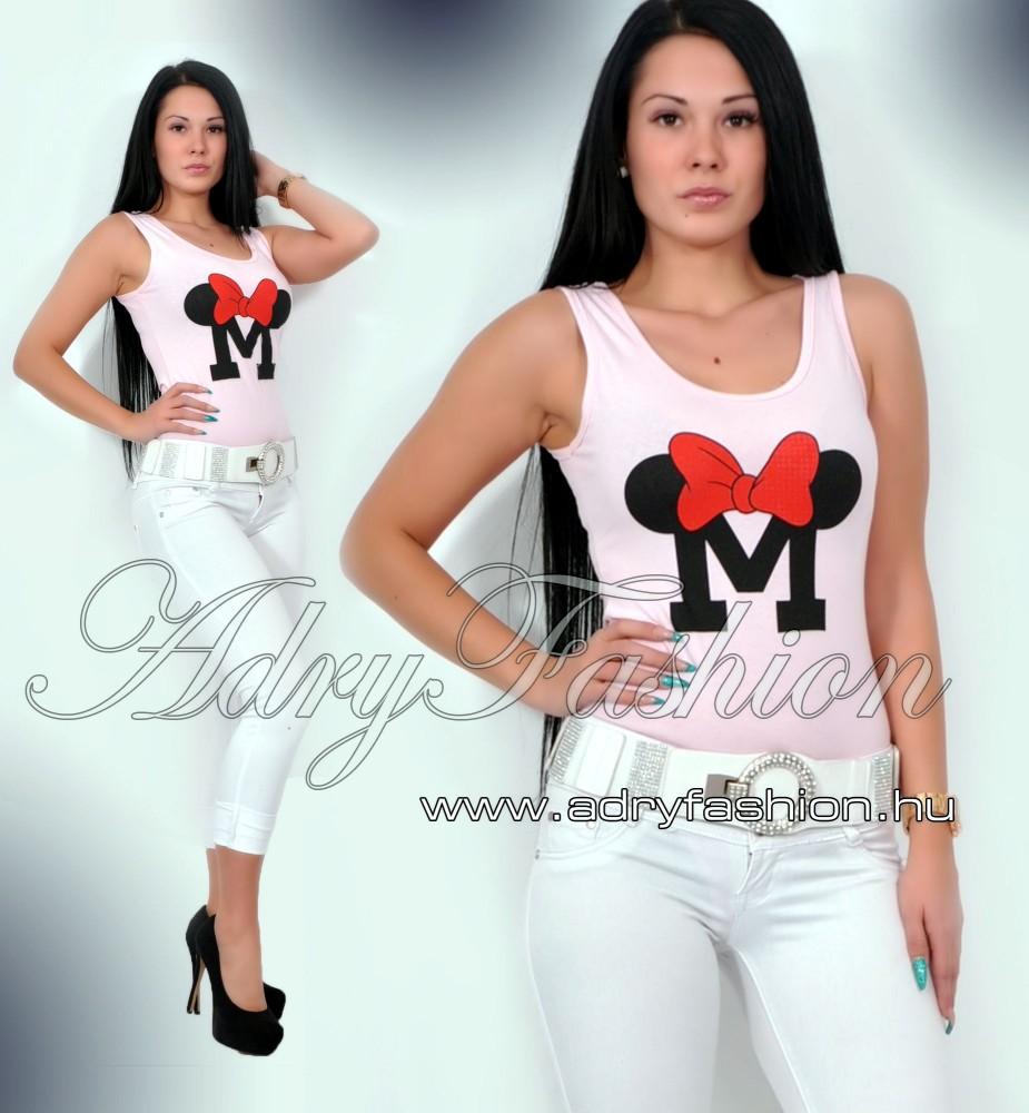997446bcd2 Minnie ujjatlan body rózsaszín - AdryFashion női ruha webáruház ...