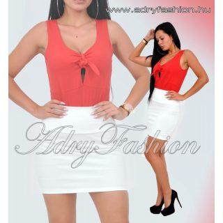 Piros Mellénél megkötős női trikó