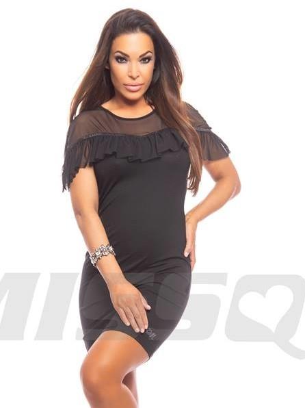acb773e00d Missq fekete ruha - Taylor női ruha muszlin díszes - AdryFashion női ...