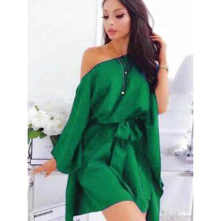 Fű Zöld lepel ruha derekán megkötős