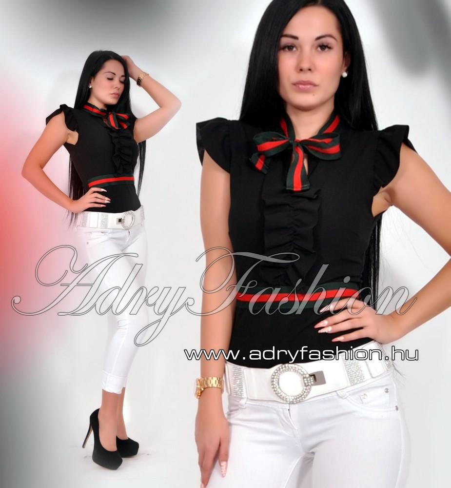7cdbe2d5cf Fekete Zsabós megkötős elegáns női body - AdryFashion női ruha ...