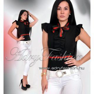 Fekete Zsabós megkötős elegáns női body