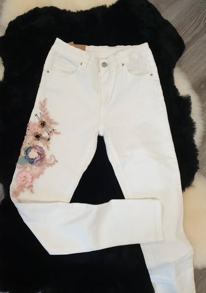 03b2063ad7 Fehér színű virág mintás női nadrág - AdryFashion női ruha webáruház ...