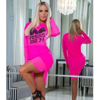 MISSQ Hedi ruha neon rózsaszín