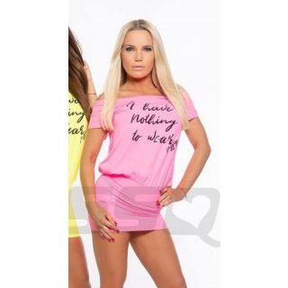 MISSQ Dollys ruha neon rózsaszín