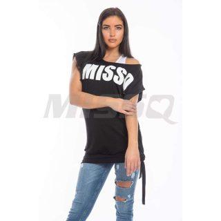 MISSQ Julietta 2in1 felső fekete-fehér