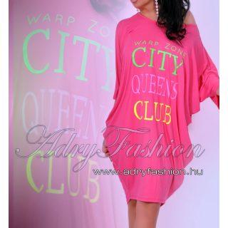 Warp Zone laza női ruha/tunika rózsaszín