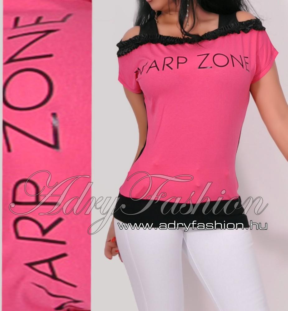 f9d678d3cc Warp Zone vállra húzható női felső pink - AdryFashion női ruha ...