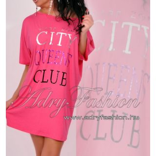 Warp Zone laza női ruha  tunika City Queens  pink