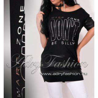 Warp Zone lenge női ruha / tunika fekete