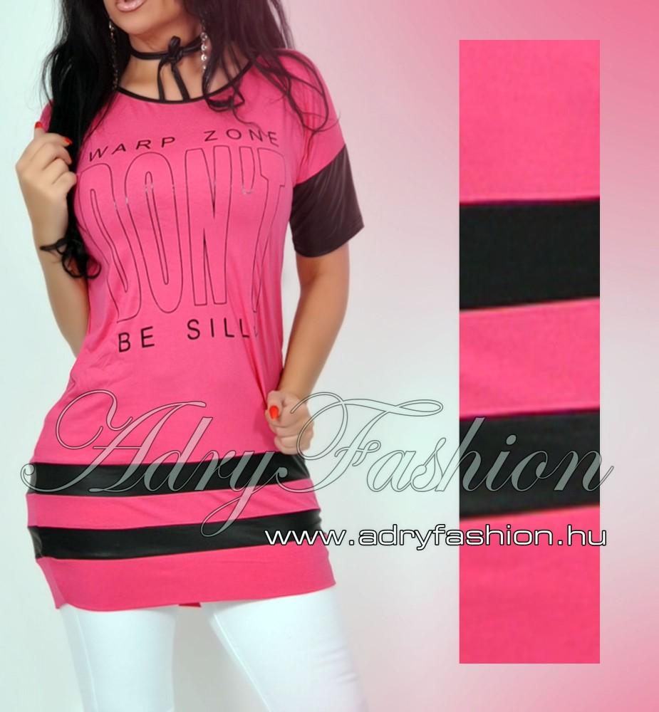 532f24e908 Warp Zone lenge női ruha tunika pink - AdryFashion női ruha ...