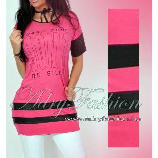 Warp Zone lenge női ruha tunika pink