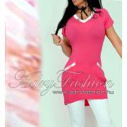 Warp Zone zsebes női tunika pink