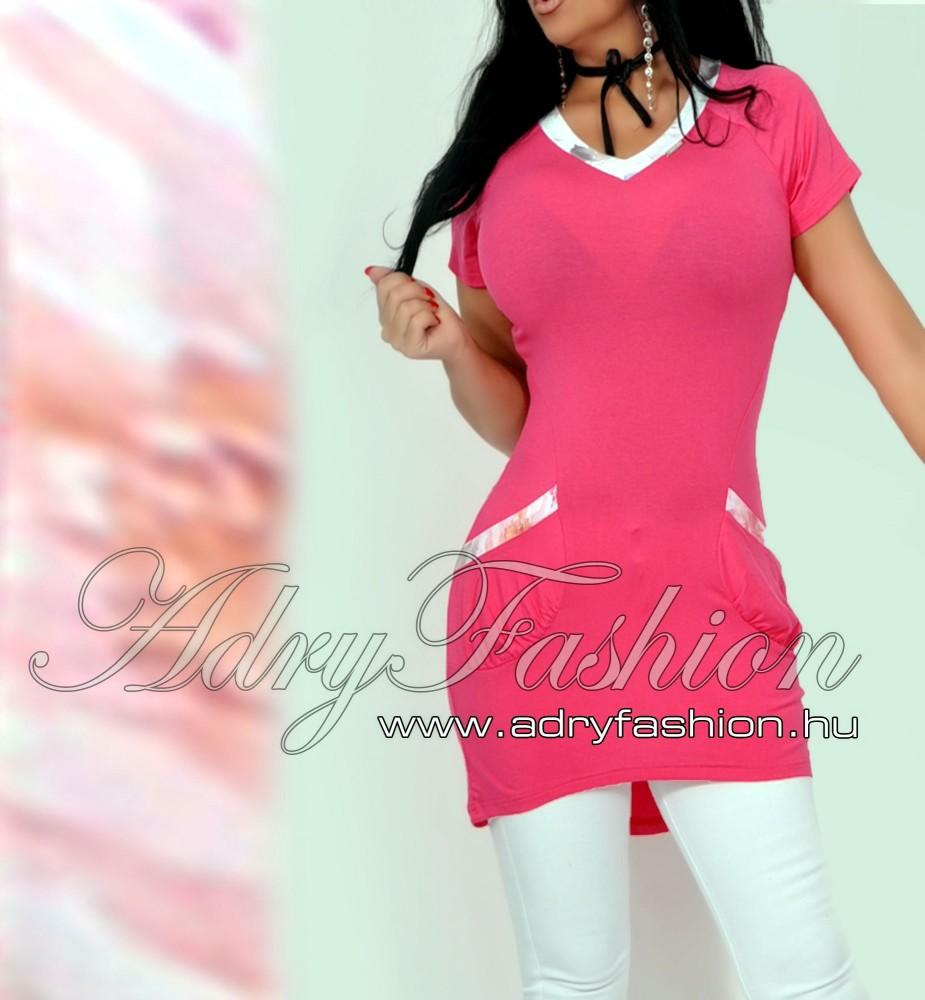 c76606a973 Warp Zone zsebes női tunika pink - AdryFashion női ruha webáruház ...