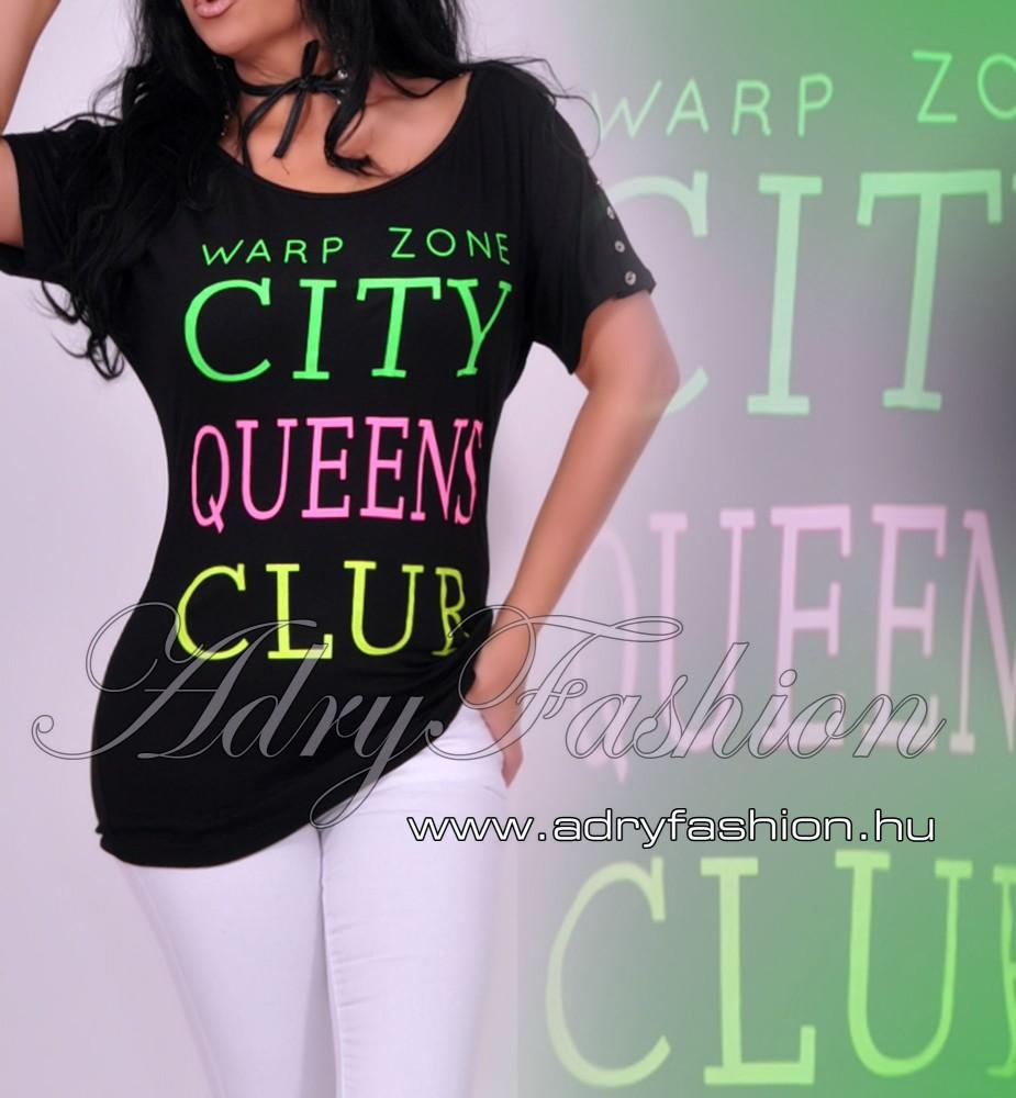 e6df93bc82 Warp Zone gomb díszes női felső fekete - AdryFashion női ruha ...