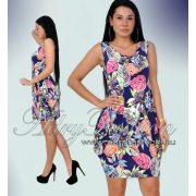 Warp Zone színes zsebes levél mintás női ruha kék