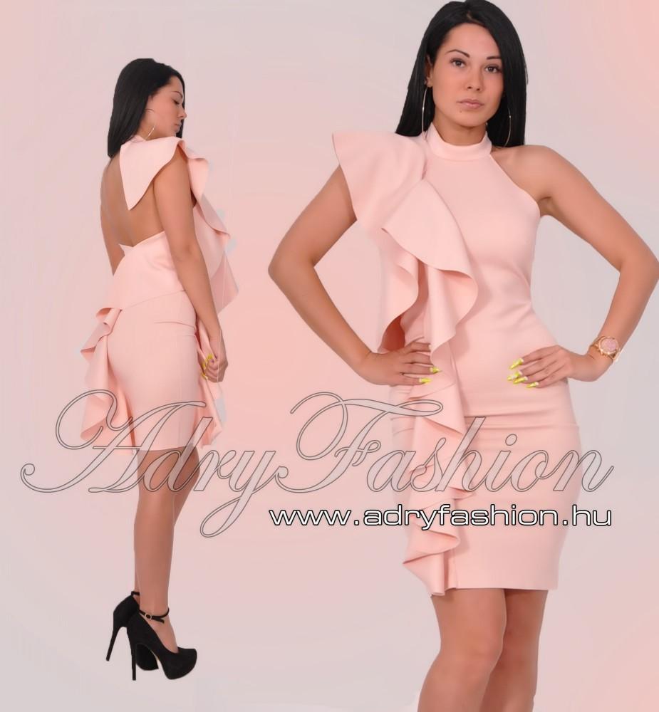 89e046bff7 Fodor díszes alkalmi női ruha púder rózsaszín M-es - AdryFashion női ...