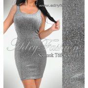 Ezüst csillogós alkalmi női ruha