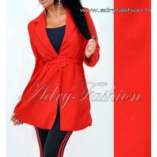Piros karcsúsított blézer kabát övvel S -es