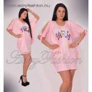 PARIS rózsaszín lenge laza női ruha