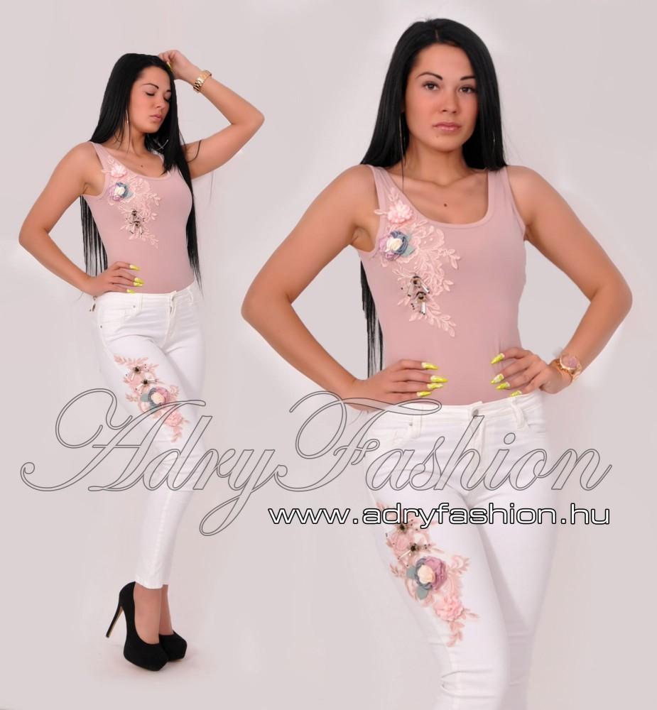 972958e976 Virág díszes női body - AdryFashion női ruha webáruház, Ruha webshop ...