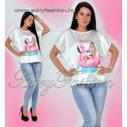 882f6e247b Fehér fekete virág mintás szatén női ing blúz - AdryFashion női ruha ...