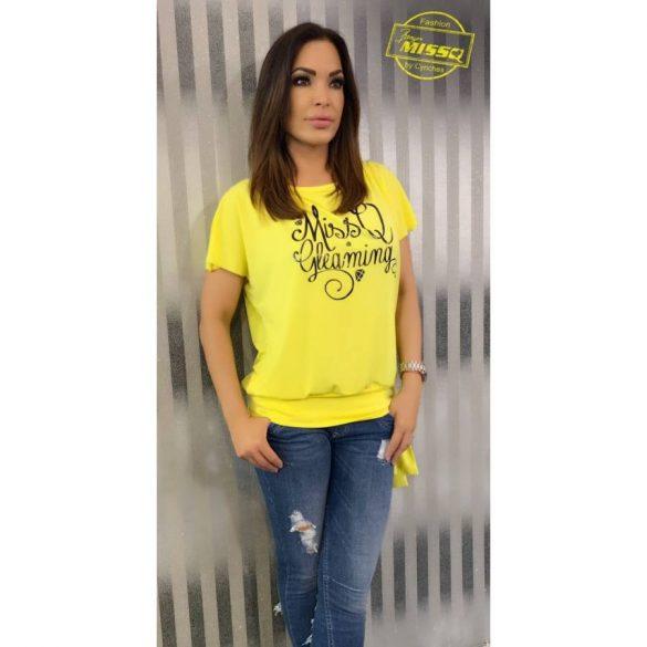 bbaf240f7c MISSQ Calypso felső sárga - AdryFashion női ruha webáruház, Ruha ...