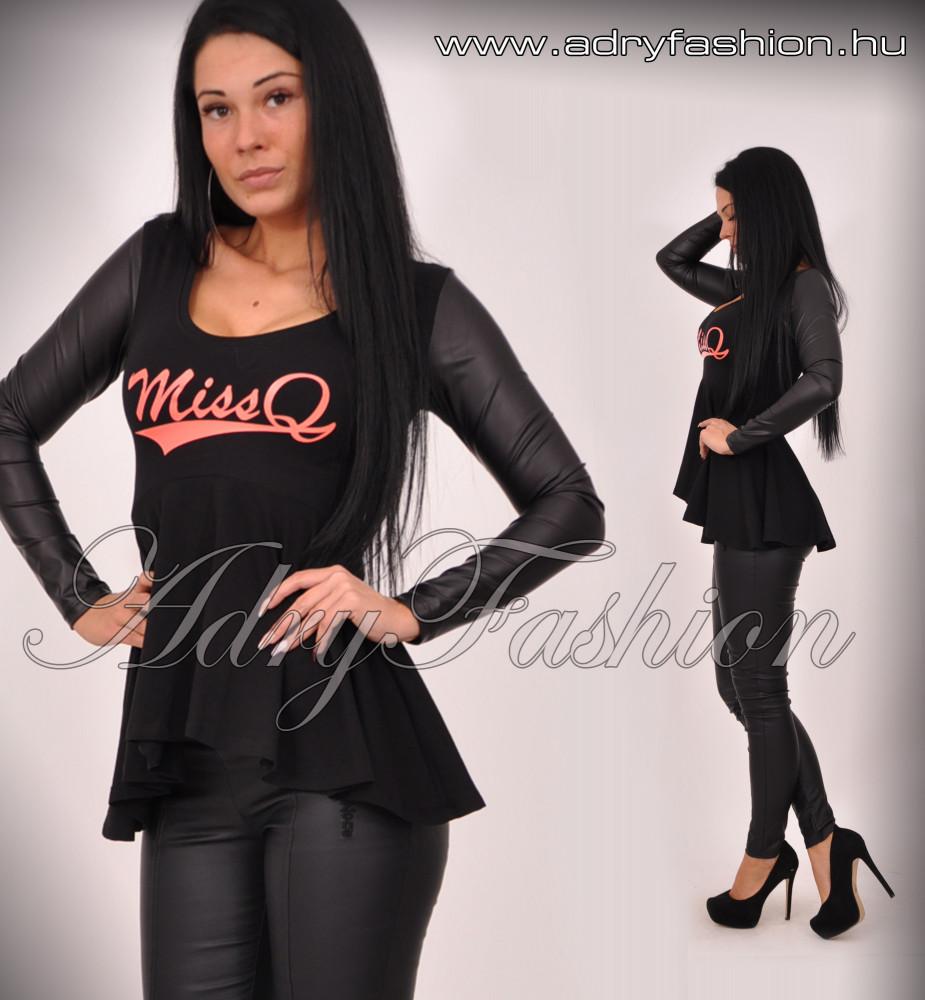 7821d093e9 MISSQ E.Janka fodros felső fekete - AdryFashion női ruha webáruház ...