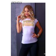Rensix fehér póló arany írással