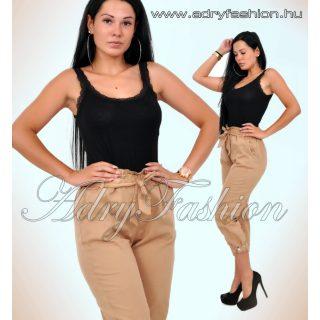 Fekete csipkepántos női trikó