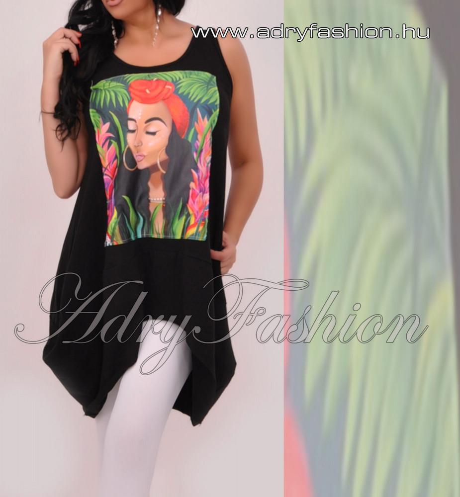 25c45da31a21 Fekete pamut bő harang női ruha indiai nő - AdryFashion női ruha ...