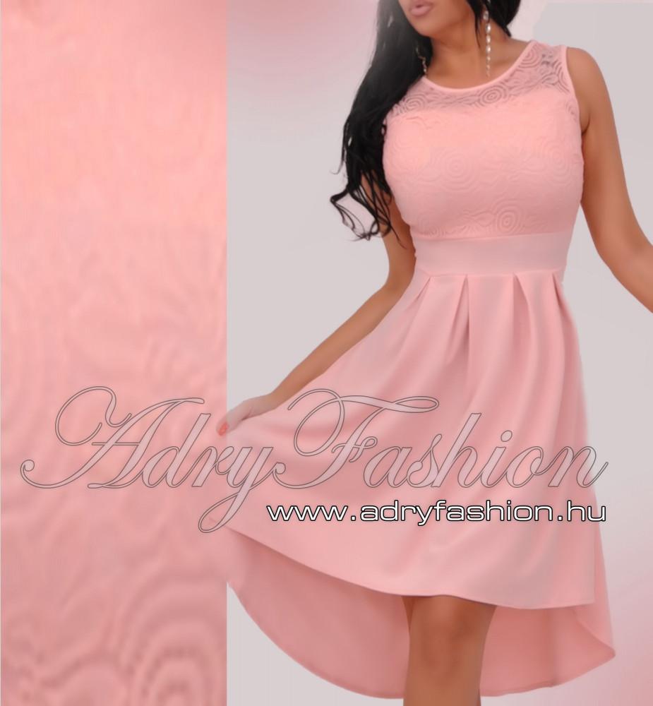 d080474053 Púder Csipke díszes elegáns alkalmi női ruha rakott szoknyás ...