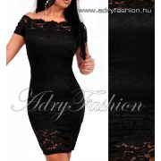 Fekete csipke alkalmi  női ruha