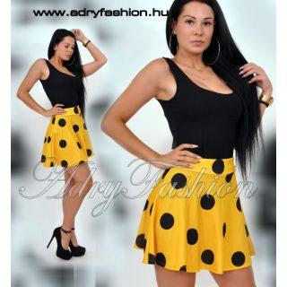 Sárga alapon fekete pöttyös loknis szoknya