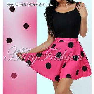 Pink alapon fekete pöttyös loknis szoknya