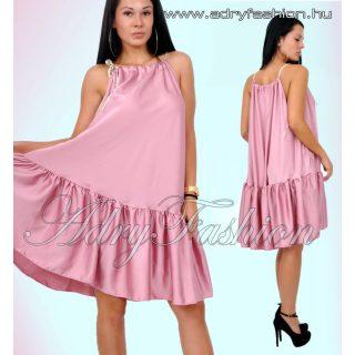 Mályvaszínű selyem szatén lenge női ruha