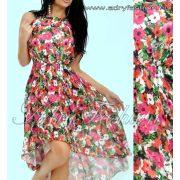 Elegáns virág mintás lenge nyári ruha