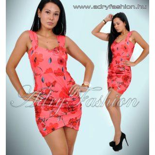 Tavaszi virág mintás női ruha
