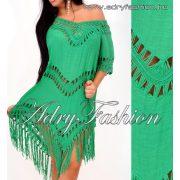 Zöld horgolt női felső - strand ruha