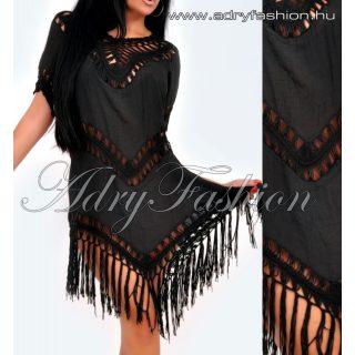 Fekete strandruha - rojtos női ruha