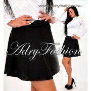 Fekete színű loknis miniszoknya