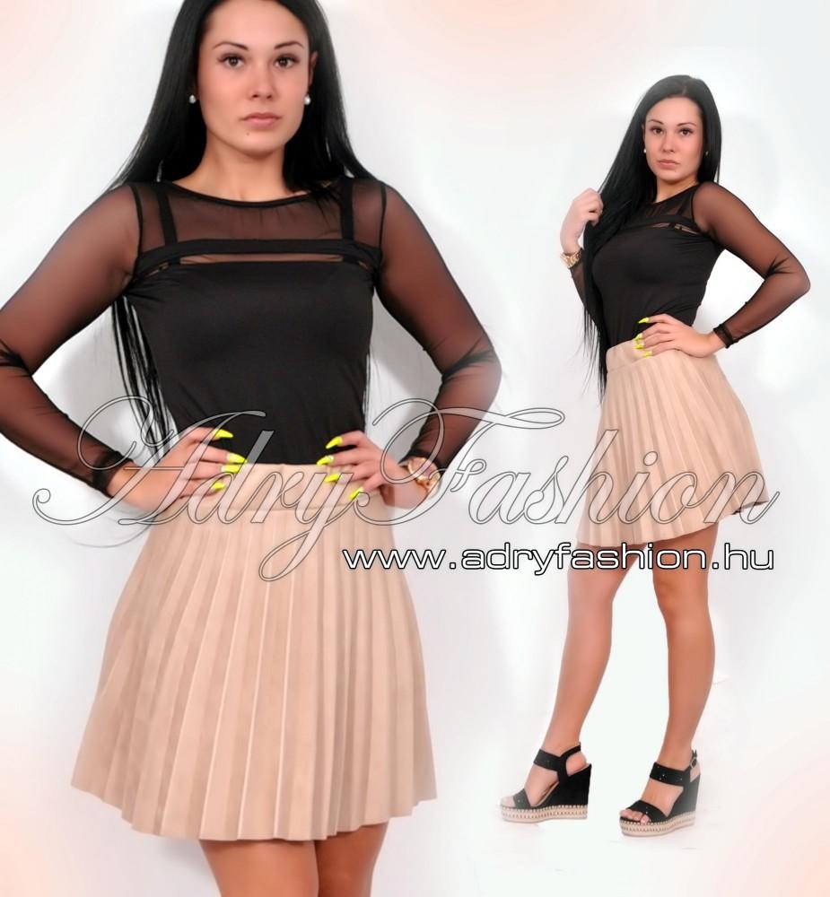 Fekete tüll betétes csini női body - AdryFashion női ruha webáruház ... 9ff9254458