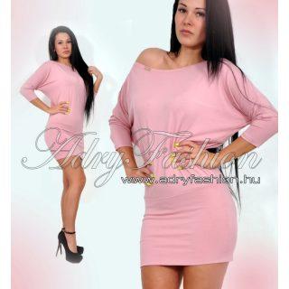 Púder  rózsaszín lenge pamut női ruha tunika