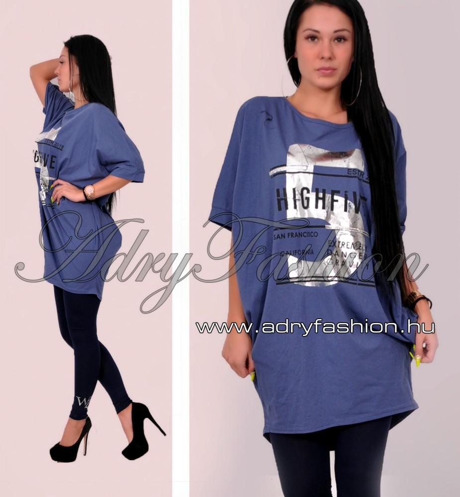 Kék denevér ujjú feliratos női ruha - AdryFashion női ruha webáruház ... 09056b561e