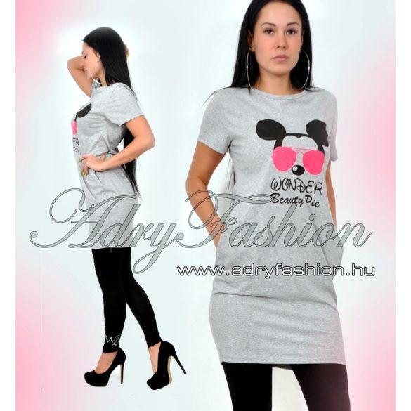 Szürke Mickey WONDER női ruha - AdryFashion női ruha webáruház 4c468dfc1c