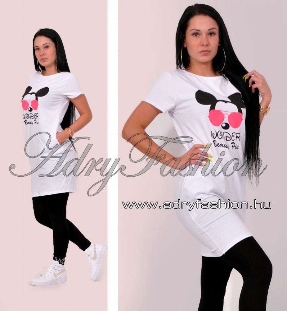 9900e7c6f63f Fehér Mickey WONDER női ruha - AdryFashion női ruha webáruház, Ruha ...